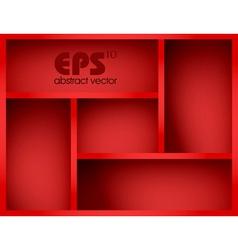 red shelf vector image