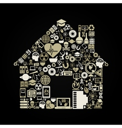 Science the house vector image vector image