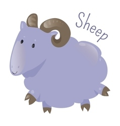 Sheep isolated Sticker for kids Child fun icon vector image vector image