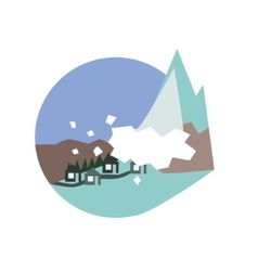 Avalanche destroying the village natural force vector