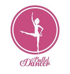 Ballet dance design vector image