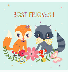 best friends background vector image