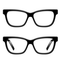 black framed glasses vector image