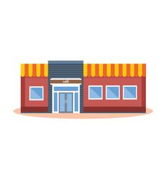 concept of modern city cafe building facade vector image