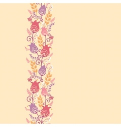Tulip flowers horizontal seamless pattern vector image vector image