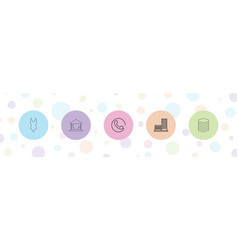 5 set icons vector