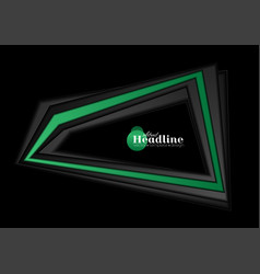 abstract black and green tech corporate background vector image