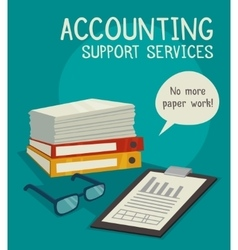 Accounting Support Services Concept vector image