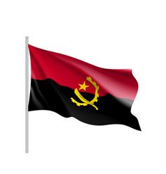 Angola realistic flag vector