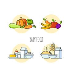 baby food set vector image