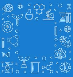 Biological engineering outline frame or vector