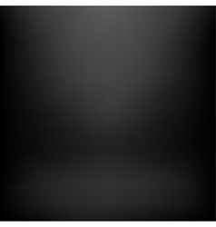 Black studio background vector image