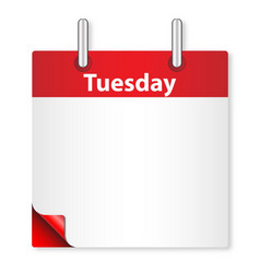 Blank tuesday date vector