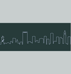 boston single line skyline vector image