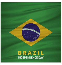 brazil independence day waving flag vector image