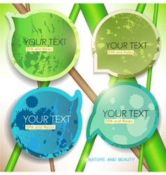 bubbles for speech natural green background vector image