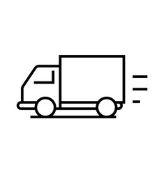 cargo delivery line icon concept sign outline vector image