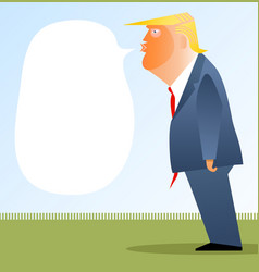Cartoon caricature portrait donald trump vector