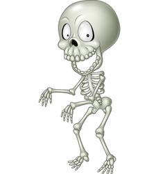 cartoon funny human skeleton vector image