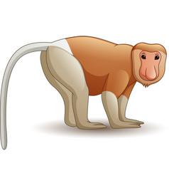 cartoon proboscis monkey vector image