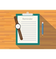 checklist clipboard reminder vector image