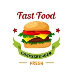 Cheeseburger Fast Food burger emblem vector