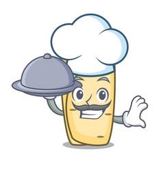 chef with food burrito mascot cartoon style vector image