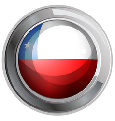 Chile flag on round icon vector