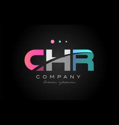 Chr c h r three letter logo icon design vector
