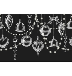 Christmas Chalkboard Ornament vector image