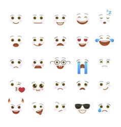 comic emoji symbols for internet chatting vector image