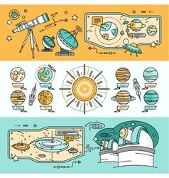 Concept Scientific Cosmos Flat Style vector