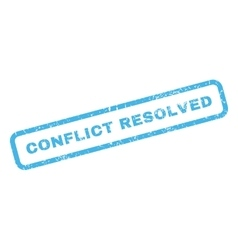 Conflict Resolved Rubber Stamp vector image