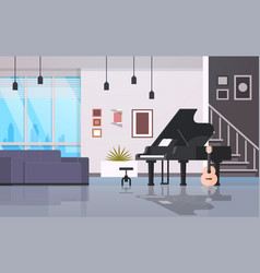 contemporary home hall musical instruments piano vector image