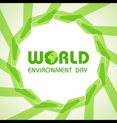 Creative World Environment Day Greeting vector image