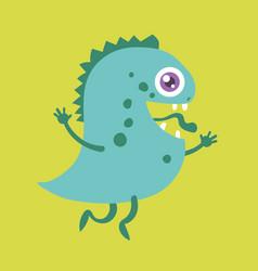 cute monster cartoon character 004 vector image