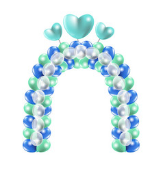Decorative balloon arch vector
