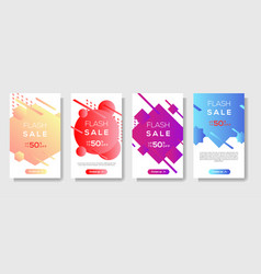dynamic modern shape mobile for flash sale banners vector image