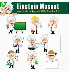 Einstein mascot vector