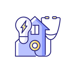 Energy audit rgb color icon vector
