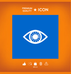 Eye symbol icon vector