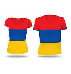Flag shirt design of Armenia vector image