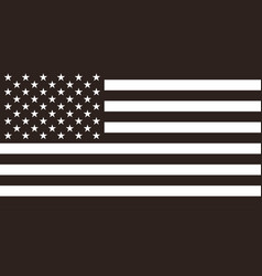 Flag united states american vector