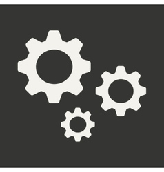 Flat in black and white mobile application vector image