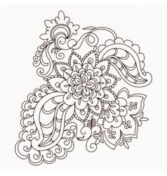 floral lace pattern element vector image