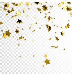 Flying glittering gold stars vector