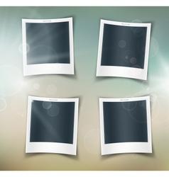Four photos vector image