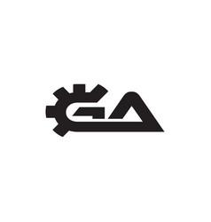 G a gear letter logo design concept vector