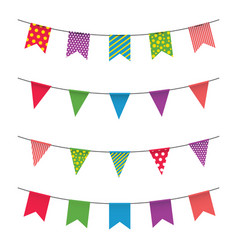 garland with colorful flags carnival or fair vector image