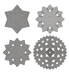 Geometric element lines vector